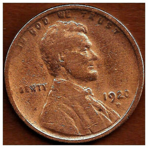 1920 D:  BRN AG LINCOLN WHEAT CENT