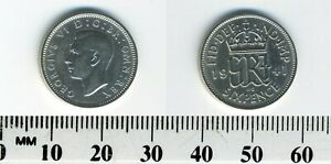 GREAT BRITAIN 1941   6 PENCE SILVER COIN   GEORGE VI   WWII MINTAGE   2
