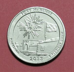 2013 S 25C FORT MCHENRY MARYLAND NATIONAL PARK AMERICA THE BEAUTIFUL QUARTER