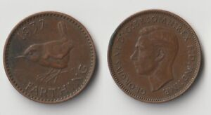 1937 GREAT BRITAIN FARTHING COIN