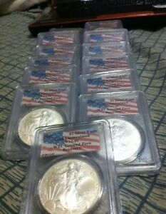 2001 PCGS WTC RECOVERY 1 OF 1440  AMERICAN SILVER EAGLE        LAST ONE