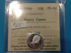 1966   H. CAM   ICCS   PL 66   CANADA   TEN CENT    SCROLL DOWN FOR ALL IMAGES.