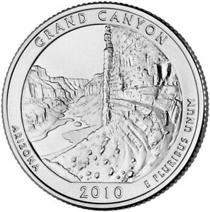 2010 D MINT GRAND CANYON ARIZONA AMERICA THE BEAUTIFUL BU QUARTER UNC