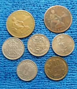 LOT OF OLD  WORLD COINS  1933 TO 1964 FILIPINAS FRANCS SIXPENCE CENTAVOS