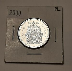 2000 CANADA 50 CENTS COIN  100  NICKEL    QUEEN ELIZABETH II
