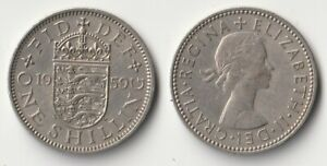 1959 GREAT BRITAIN 1 SHILLING COIN ENGLISH VERSION