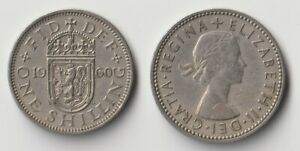 1960 GREAT BRITAIN 1 SHILLING COIN SCOTTISH VERSION