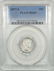 Click now to see the BUY IT NOW Price! 1897 S BARBER DIME PCGS MS 65 KEY DATE TOUGH