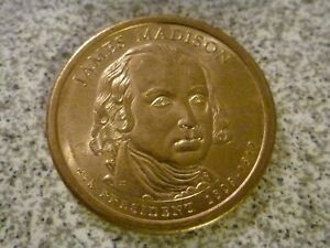 2007 D JAMES MADISON 4TH PRESIDENTIAL U.S. ONE DOLLAR COIN