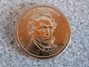 2010 D JAMES BUCHANAN 15TH PRESIDENTIAL U.S. ONE DOLLAR COIN