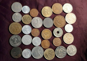 LOT OF 30 FOREIGN COINS