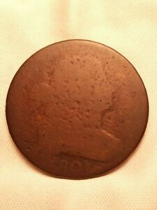 1801  DRAPED BUST LARGE CENT 3 ERROR REVERSE
