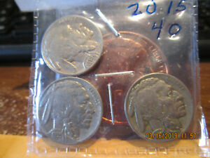 1935 P D S BUFFALO NICKELS VF/F    /XF