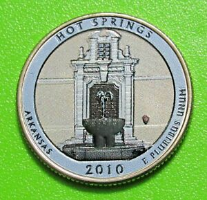 2010 D 25C HOT SPRINGS ARKANSAS NATIONAL PARK AMERICA THE BEAUTIFUL QUARTER