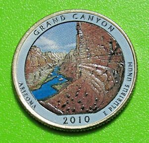 2010 P 25C GRAND CANYON ARIZONA NATIONAL PARK AMERICA THE BEAUTIFUL QUARTER