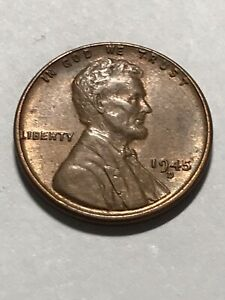 HIGH GRADE 1945 D LINCOLN WHEAT CENT.