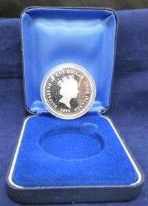 Click now to see the BUY IT NOW Price! 2002 $1 COOK ISLANDS SILVER ROUND   QUEEN MOTHER 1900 2002   PERTH MINT   UNC
