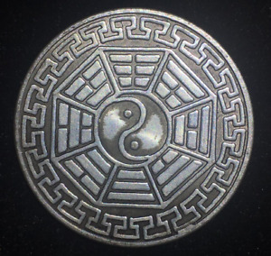 LUCKY CHINESE COIN TONGBAO TAIJI BAGUA ANCIENT STYLE UNIQUE FENG SHUI ZODIAC