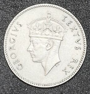 1949 EAST AFRICA 50 CENTS GEORGE VI KM33 BRONZE  873
