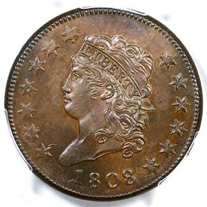 Click now to see the BUY IT NOW Price! 1808 S 278 R 3 PCGS MS 63 BN CLASSIC HEAD LARGE CENT COIN 1C