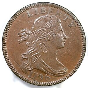 1796 S 119 R 3 PCGS MS 63 BN DRAPED BUST LARGE CENT COIN 1C
