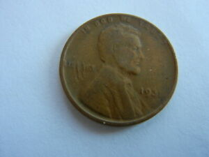 1931 LINCOLN HEAD PENNY. COINS I HAD AS A KID. SEE PICS FOR CONDITION   LOT 31 D