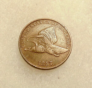 1857 FLYING EAGLE CENT   SNOW 3 DDO   SHARP LOOKING COIN