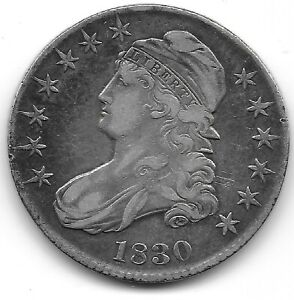 1830 LARGE 0 CAPPED BUST HALF DOLLAR