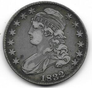 1832 LARGE LETTERS CAPPED BUST HALF DOLLAR