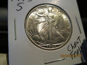 1943 S WALKING LIBERTY HALF  MINT STATE