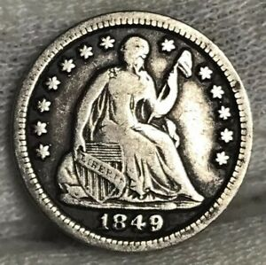 1849/46 SEATED LIBERTY HALF DIME FINE  FS 301   SUPER COOL VARIETY