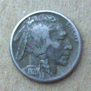 1920 BUFFALO NICKEL IN FINE  CONDITION   DARK FIELDS STRONG DETAILS