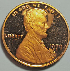 1979 S PROOF LINCOLN CENT TYPE 2 CLEAR 'S' DEEP CAMEO BRILLIANT UNCIRCULATED