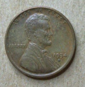1934 LINCOLN WHEAT CENT IN AU CONDITION    NICE EYE APPEAL