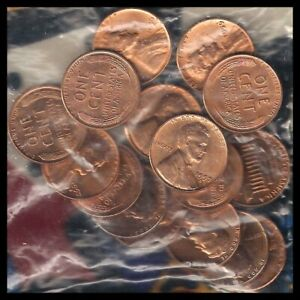 1954 D TO 1982 D: RD UNC LINCOLN WHEAT CENTS / 16 COUNT / READ DATES LIST >>>