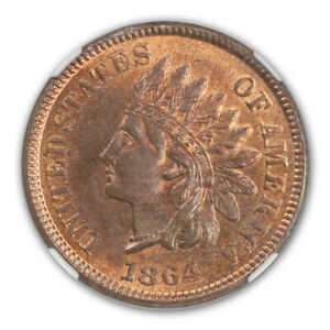Click now to see the BUY IT NOW Price! 1864 L BRONZE INDIAN CENT 1C NGC MS66 RB