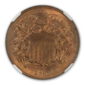 Click now to see the BUY IT NOW Price! 1869 TWO CENT PIECE 2C NGC MS67RB