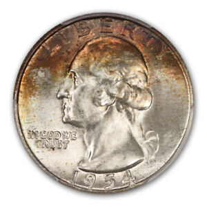 Click now to see the BUY IT NOW Price! 1954 D 25C WASHINGTON QUARTER PCGS MS67   CAC