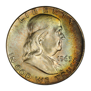Click now to see the BUY IT NOW Price! 1963 50C FRANKLIN HALF DOLLAR PCGS MS66 FBL  CAC  3151 40 PQ  POP 2/0