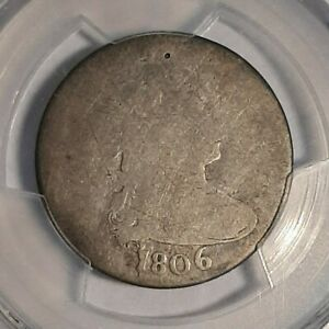 1806 DRAPED BUST SILVER QUARTER   PCGS  PO01   POOR 1 REGISTRY SET COIN