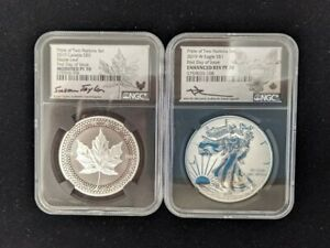 Click now to see the BUY IT NOW Price! 2019 W CANADA RCM VERSION PRIDE OF TWO NATIONS NGC PF70 SET FIRST DAY OF ISSUE