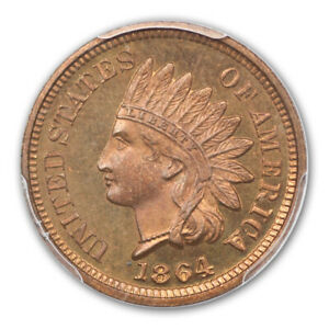 Click now to see the BUY IT NOW Price! 1864 1C BRONZE INDIAN CENT   TYPE 3 BRONZE NGC PR66 RB