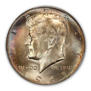 Click now to see the BUY IT NOW Price! 1965 50C KENNEDY HALF DOLLAR   TYPE 2 SILVER CLAD PCGS MS67