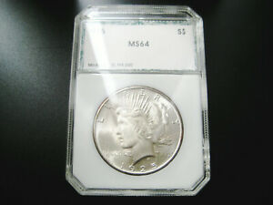 1925   P   PEACE SILVER DOLLAR CHOICE UNC GEM BU COIN MS