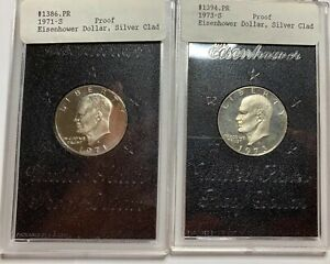 1971 S AND 1973 S EISENHOWER PROOFS