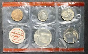 1969 U.S. MINT SET NO OGP 10 COINS 2 TOKENS DDR ERROR HALF DOLLAR  03