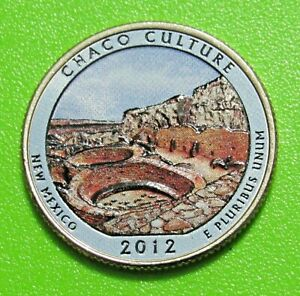 2012 D 25C CHACO CULTURE NEW MEXICO NATIONAL PARK AMERICA THE BEAUTIFUL QUARTER