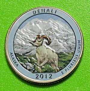 2012 D 25C DENALI ALASKA NATIONAL PARK AMERICA THE BEAUTIFUL QUARTER