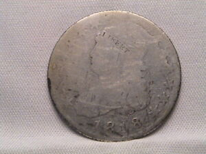 1818   CAPPED BUST QUARTER B 2 LDS