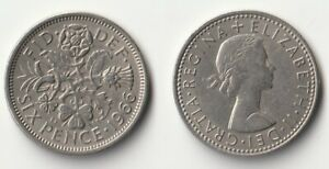 1966 GREAT BRITAIN SIXPENCE COIN
